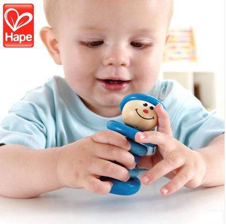 Germany hape boy 0-1-year-old baby enlightenment educational children's toys rattles baby toys essential super smooth