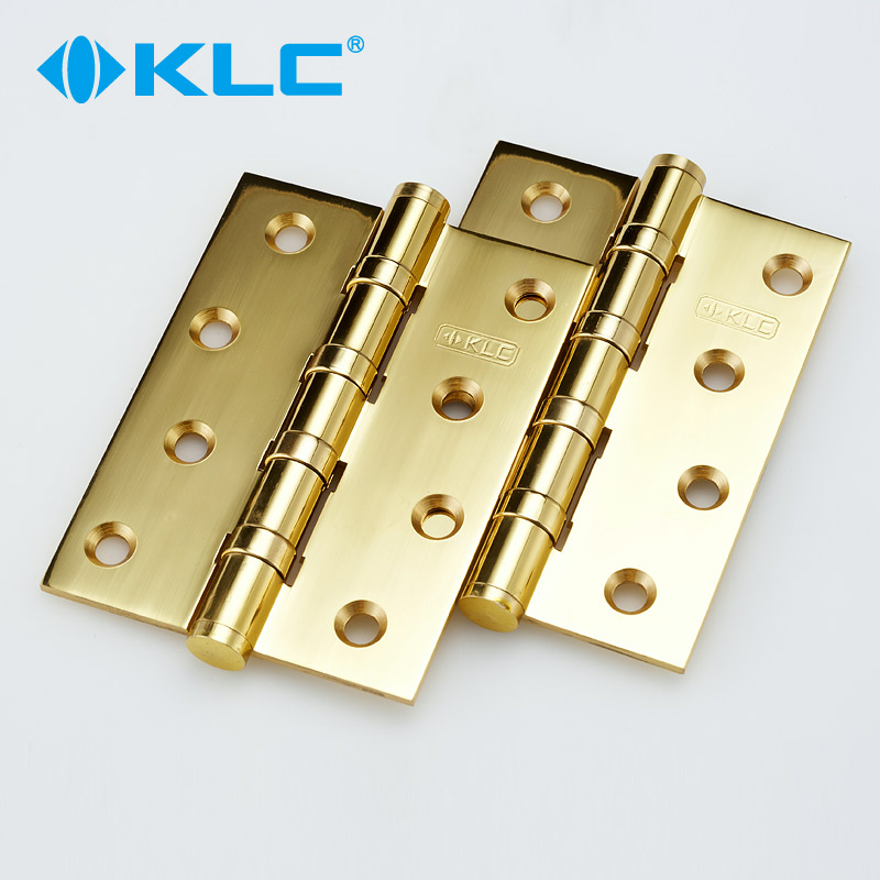 Germany klc bright gold copper hinge bearing mute solid wood door villa door hinge mounted two pairs