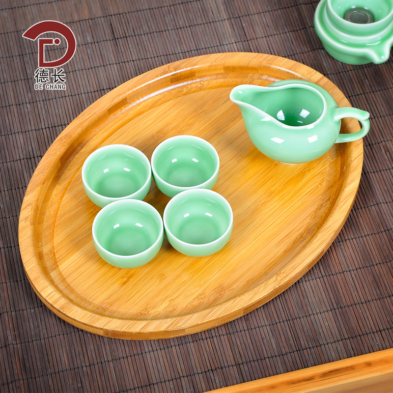 Germany long new bamboo bamboo wood tea tray tray rectangular tray fruit plate serving dish variety of specifications