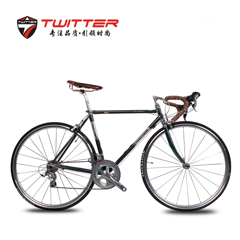 Germany piebald special TW-SAN retro road bike shimano 20 speed v brake hascrome ultralight road bike bicycle