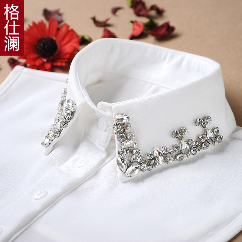 Geshi lan korean autumn and winter female chiffon shirt collar fake fake collar shirt collar fake fake fake collar collar collar decorated female