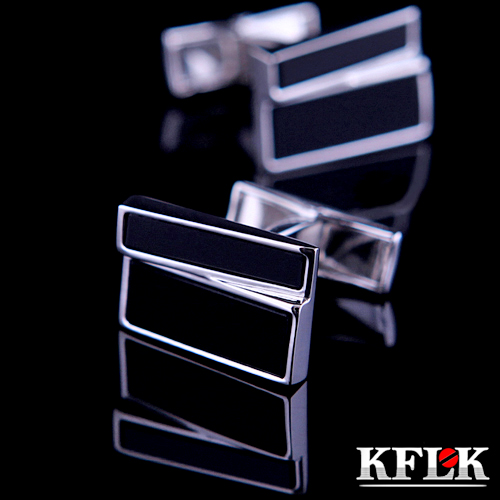 Gift box kflk black onyx cufflinks cufflinks cufflinks french shirt cufflinks cufflinks men's shirt cufflinks nail