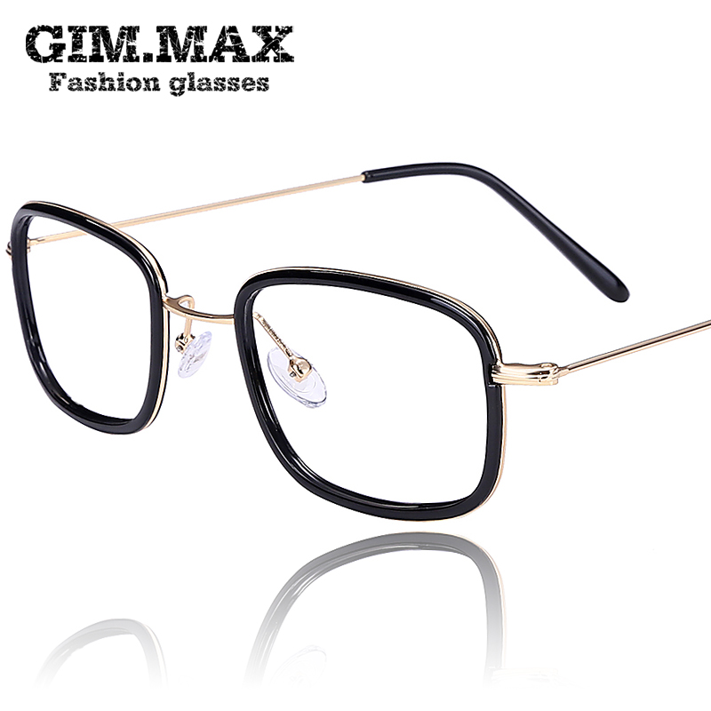 Gimmax rectangular small frame glasses frame tr90 lightweight and comfortable men myopia frame glasses frame female plain mirror radiation