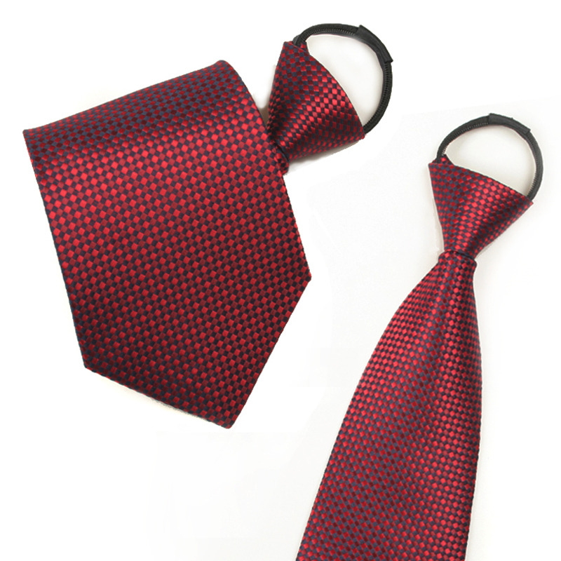 Ginllary men's easy to pull zipper tie red tie formal wear business casual tie accessories