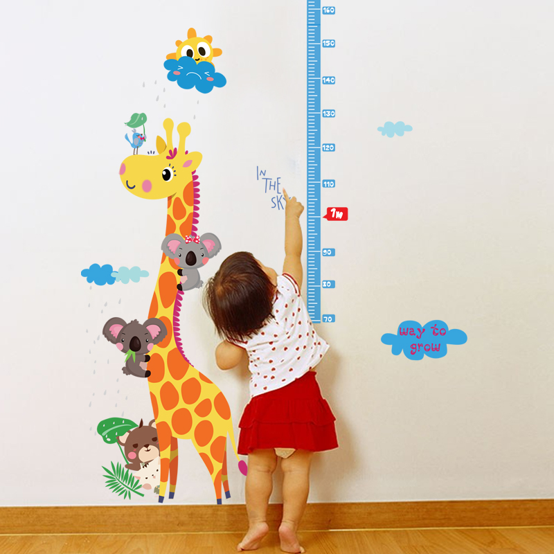Giraffe height stickers bedroom living room entrance background kindergarten children's room decorative wall stickers