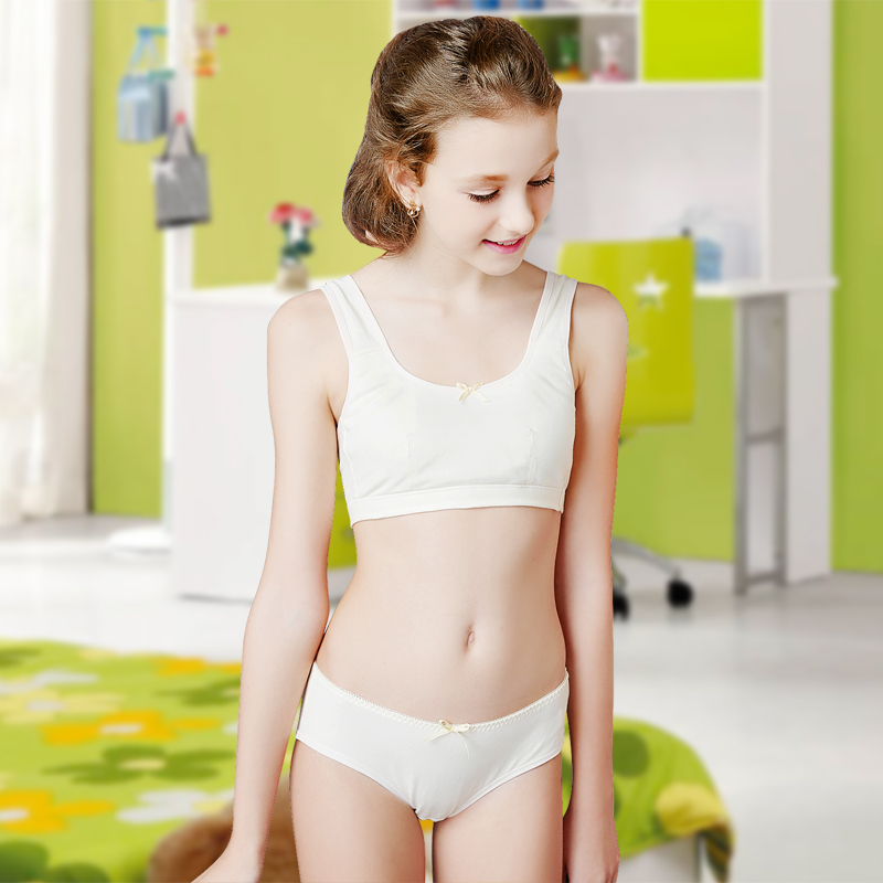 [Girls] very sisters bra set underwear full cup thin section cotton developmental students vest 920