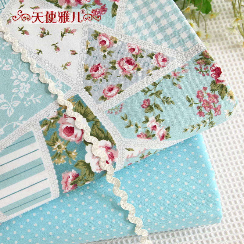 Given contadino floral printed cotton twill cotton fabric patchwork quilting fabric diy | width 1.6 m