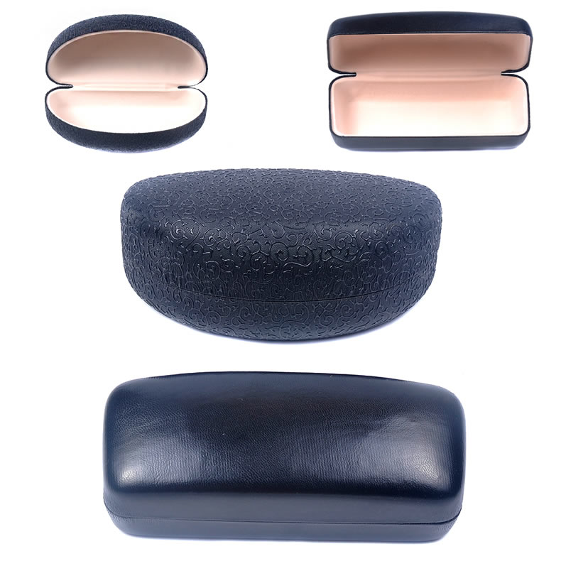 Glasses box sunglasses box glasses box sunglasses hard case leather metal mirror box compression