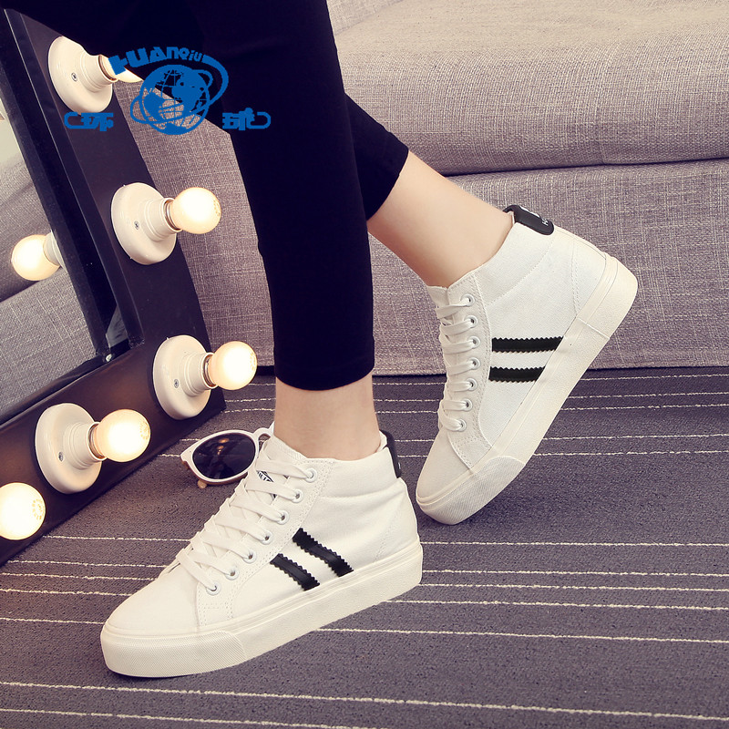 Global 2016 spring high shoes women within the higher platform shoes canvas shoes women shoes casual shoes korean tidal student shoes