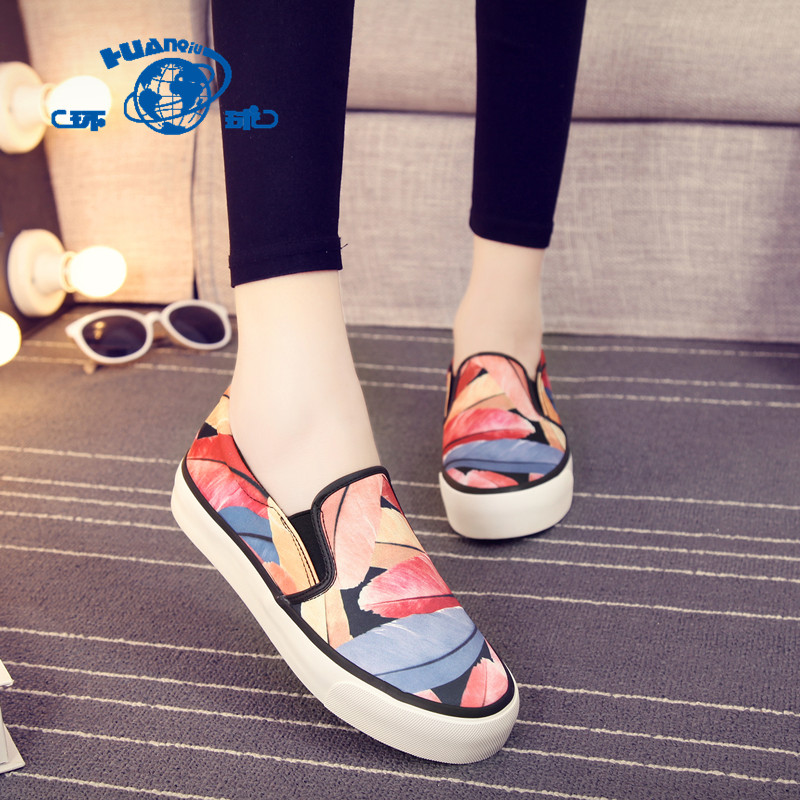 Global 2016 to help low lazy spell color canvas shoes korean version of casual shoes female student flat shoes tide college wind