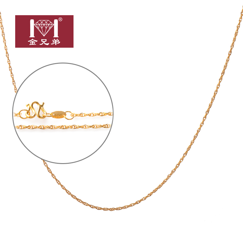 Gold brothers ms. wave chain 999 gold jewelry gold necklace gold necklace classic wild section