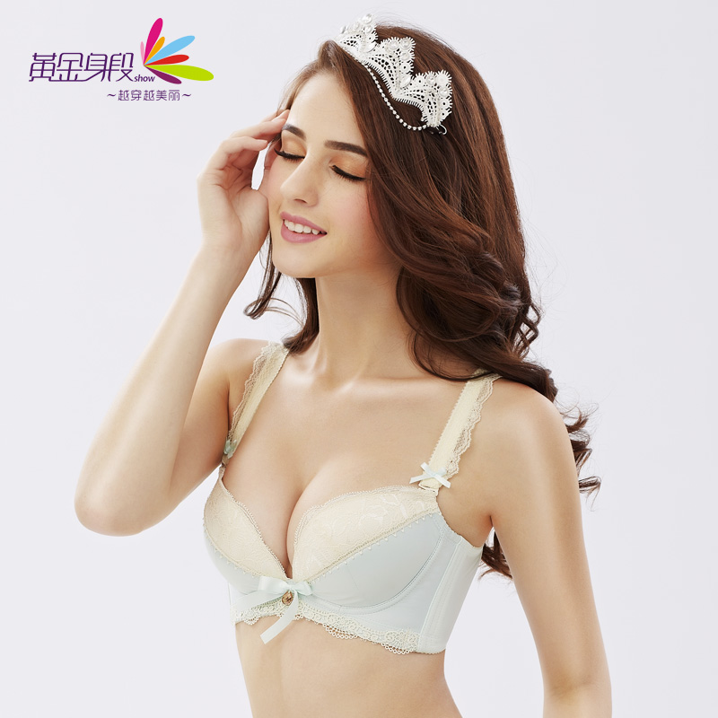 97d686a4fd3 Get Quotations · Gold figure breathable bra japanese girl student underwear  bra gather small chest summer ice silk female