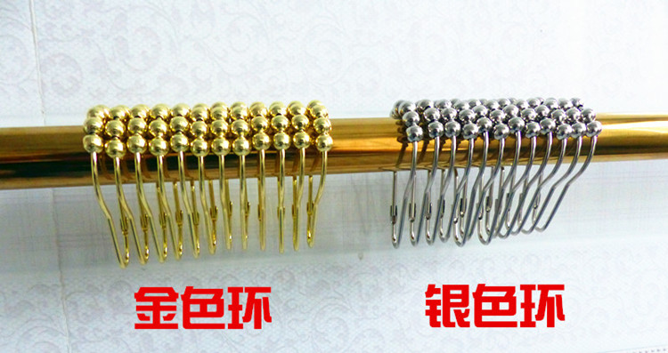 Gold metal ring silver metal ring 304 stainless steel shower curtain rod shower curtain ring with more smoothly