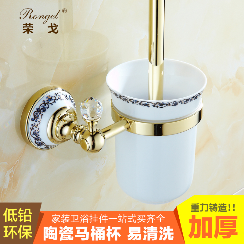 Gold plated cup holder toilet toilet brush toilet brush toilet suite bathroom accessories bathroom antique continental shelf