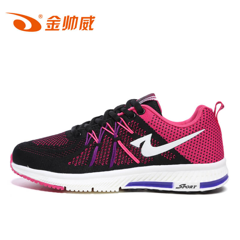 Gold shuaiwei fly woven sports shoes women 2016 autumn integration woven mesh running shoes breathable cushioning running shoes women