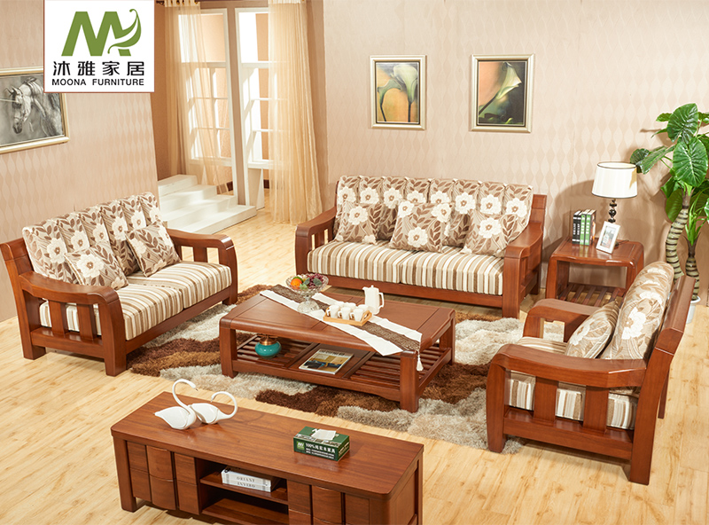 Get Quotations · Gold Walnut Wood Sofa Wooden Sofa Wooden Sofa Fabric Sofa  Around The Sofa Single Sofa