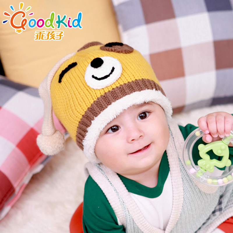 Good boy korean children baby hats for men and women dongkuan warm baby hat baby hat wool hat hedging