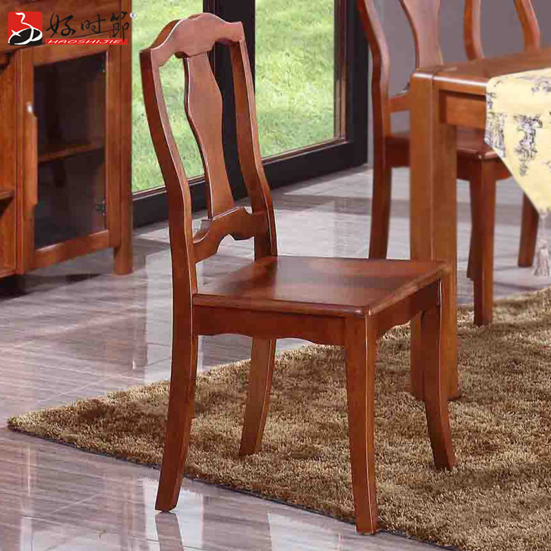 Good time wood dining chairs modern chinese solid wood furniture solid wood dining chair chair office chair