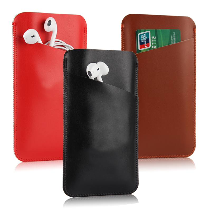 Goods before philips/philips I999 mobile phone sets 5.5 inch line leather protective sleeve card cell phone pocket