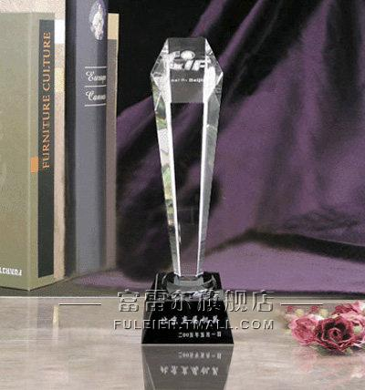 Grade crystal trophy tournament trophy custom spot custom crystal trophy custom lettering