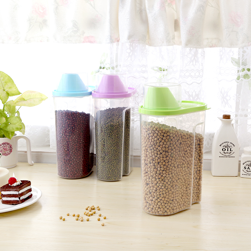 Grains kitchen canister transparent plastic bottle sealed cans of whole grains storage box storage tank