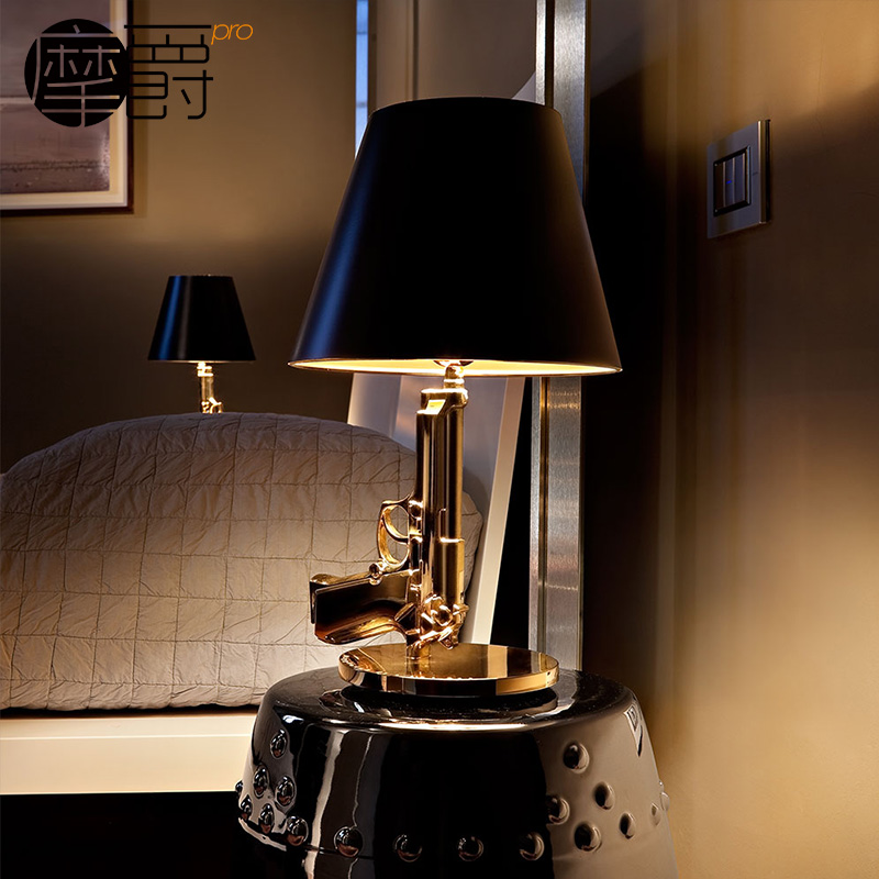 Grand mercure mount creative bedside lamp decorative lamp bedroom living room gold tuna pistol light classic art table lamp specials