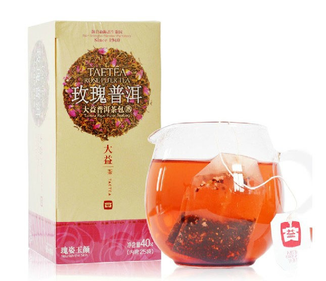 Great benefits tea bags rose pu'er tea cooked tea 40g/box teabag tea herbal tea