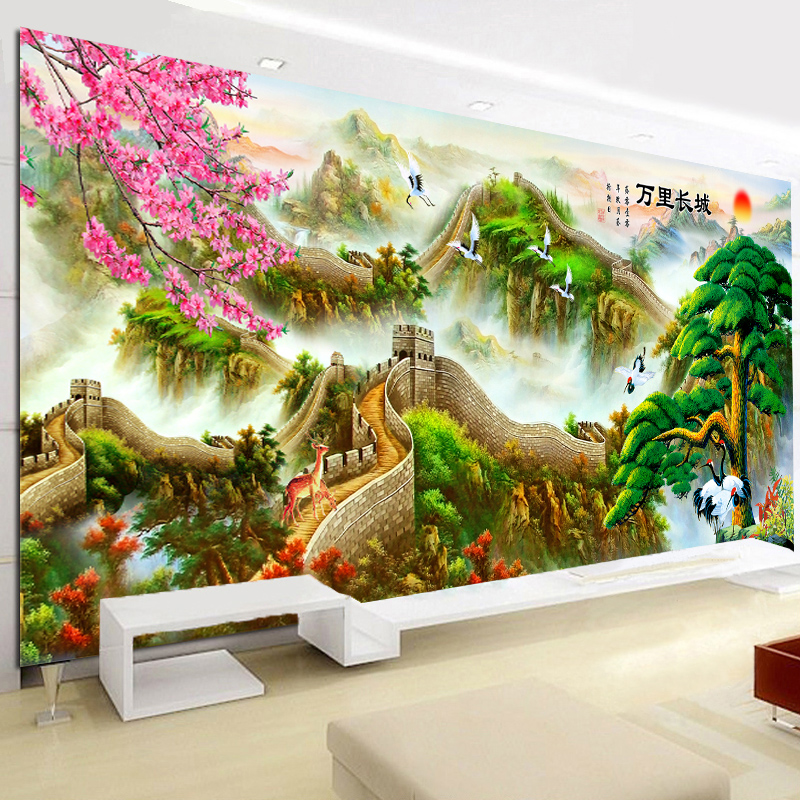 Great wall painting new diamond stitch yingkesong substantial living room landscape painting landscapes full of diamond masonry embroidered