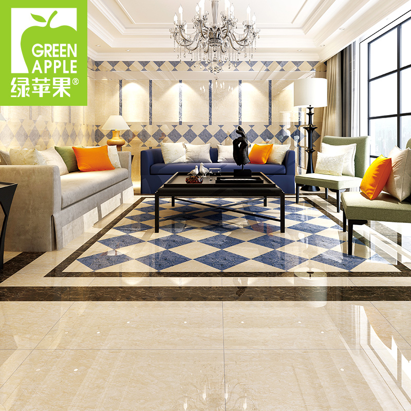 Get Quotations · Green Apple Tile 800x800 Resistant Tiles Foshan Imitation Marble  Tile Living Room Bedroom Brick Tile Floor Part 70