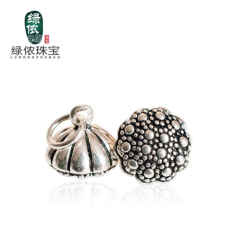 Green lennon s925 silver thai silver pendants bracelets accessories sunflower lotus beads bracelets diy jewelry accessories