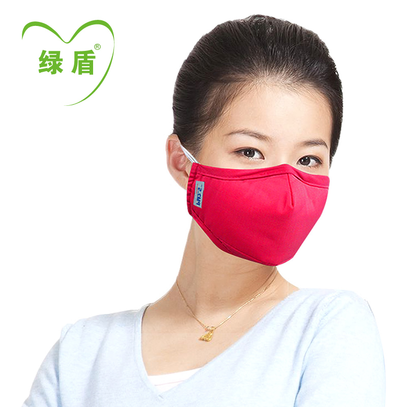 Green shield pm2.5 protective masks anti pm2.5 masks fog and haze masks adult men and ladies stereoscopic 3d filter