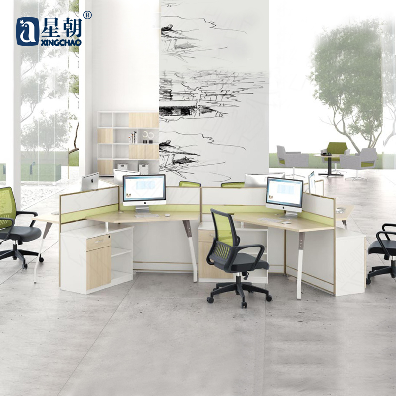 Guangzhou lowfat towards furniture wall panels desk staff employees work desk computer tables and chairs desk