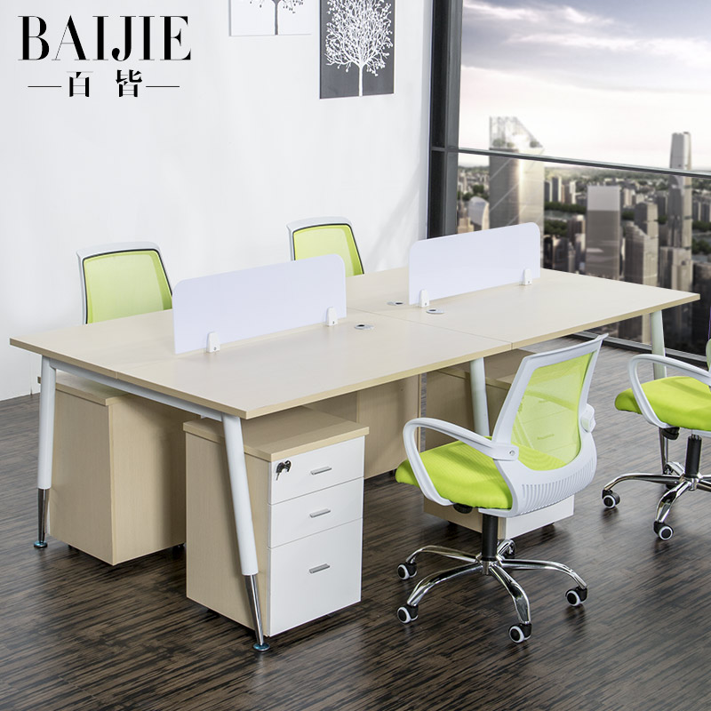 Guangzhou minimalist modern office furniture desk 4 digit combination screen desk computer desk staff tables staff office furniture