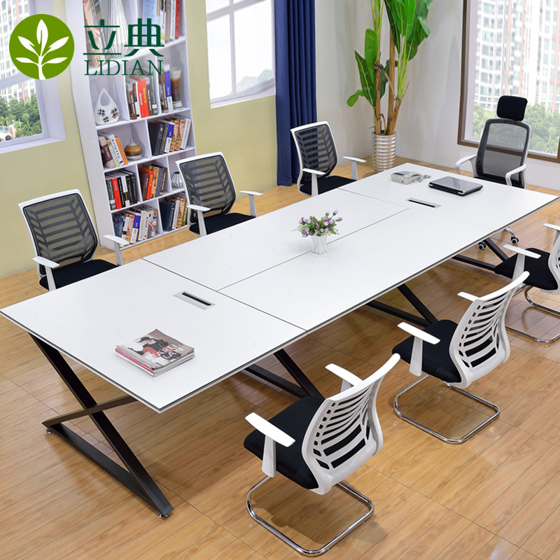 Guangzhou office furniture conference table long table minimalist modern bar staff training tables long table conference tables and chairs combination