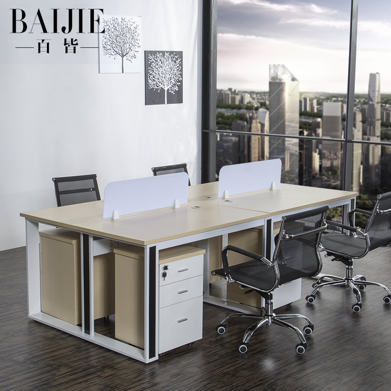Guangzhou office furniture minimalist modern desk staff tables 4 digit combination screen desk computer desk office furniture