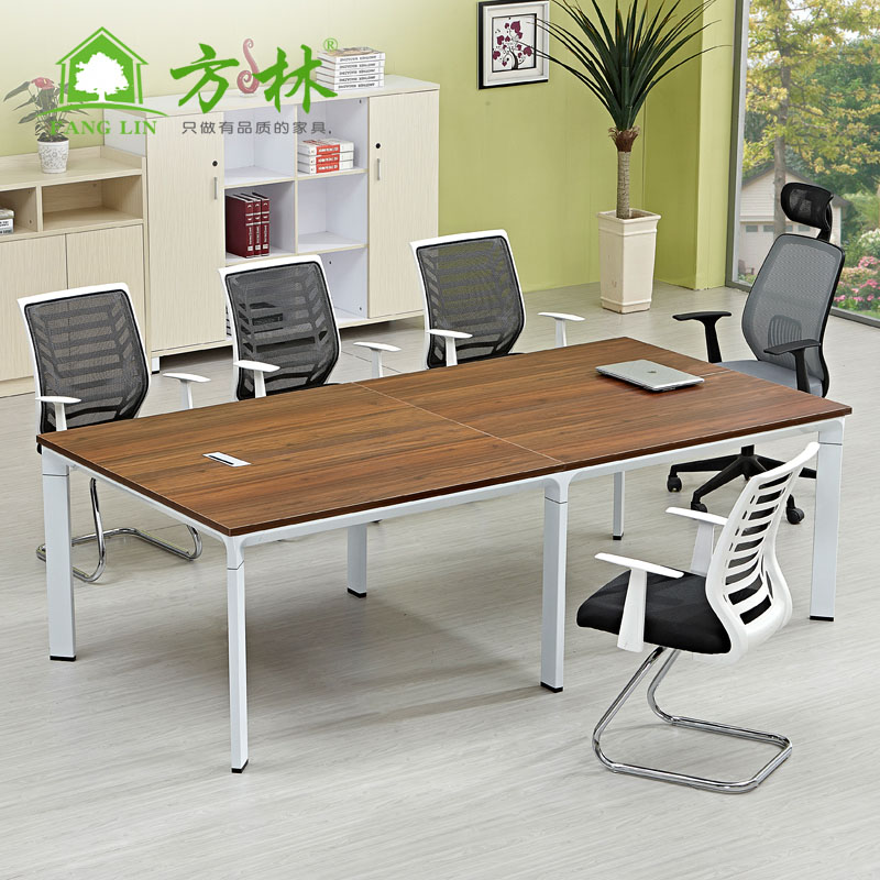 Guangzhou office furniture plate conference table long table negotiating table training tables and chairs combination table meeting reception desk