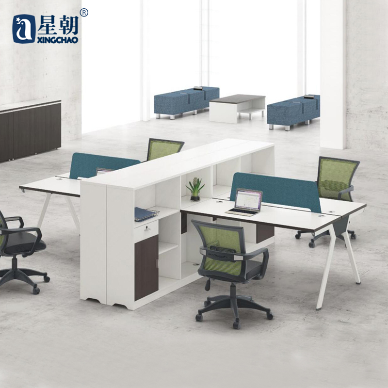 Guangzhou towards staff of four bits desk office furniture modern minimalist desk computer desk wall panels for position