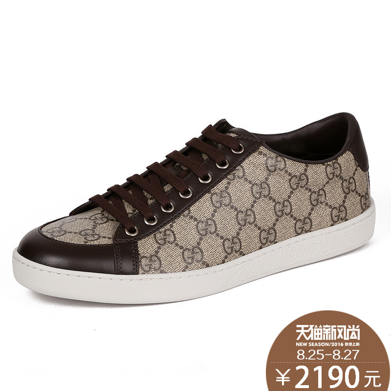 Gucci/gucci/gucci/gucci ms. authentic shoes casual shoes canvas shoes series with flat shoes female models