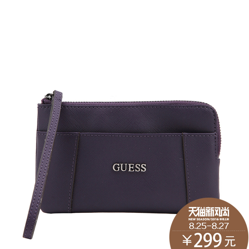 Guess/giles leather ladies hand carry purse mini packet purse SWVM5042570