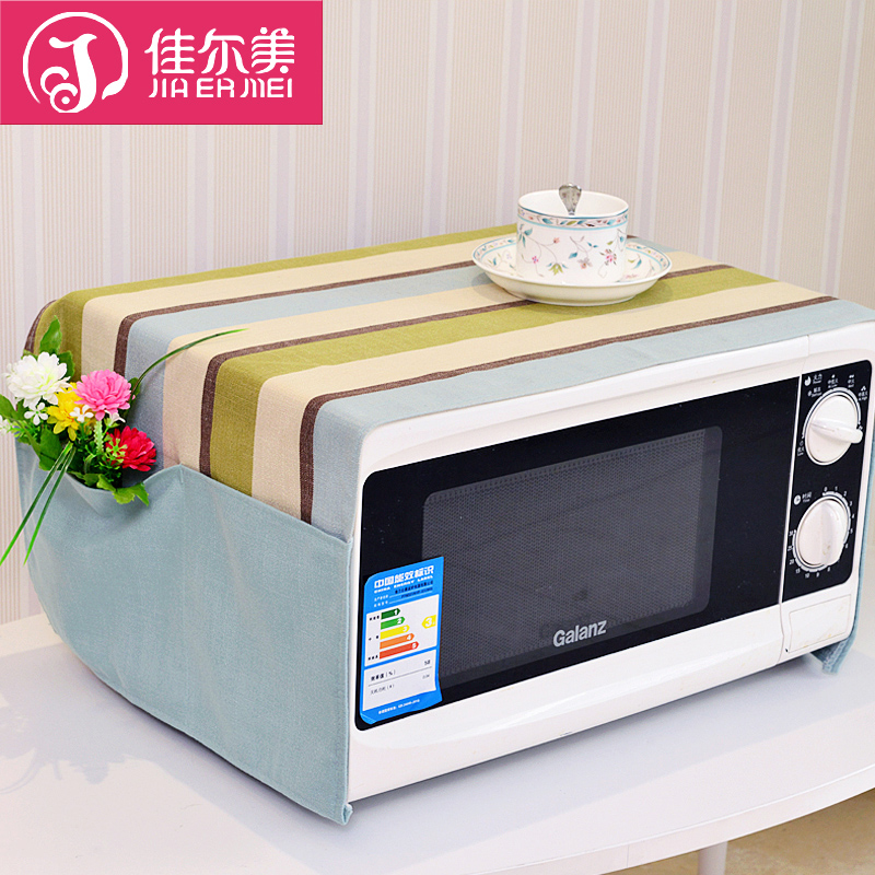 Guy us cotton simple and stylish modern plaid fabric microwave hood microwave oven dust cover dust cover wear thick