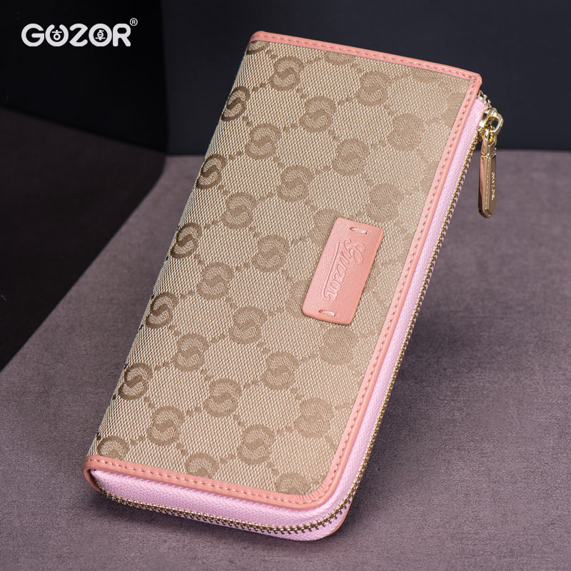 Guzor/ancient zhuo new european version of the canvas handbag wallet zipper wallet ms. wallet long section of female models 7 words