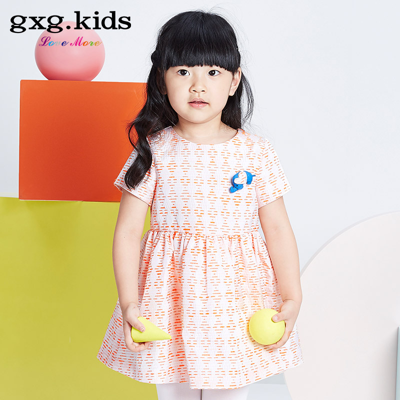 Gxg kids kids 2016 spring counter new girls short sleeve dress princess dress child cute decorative