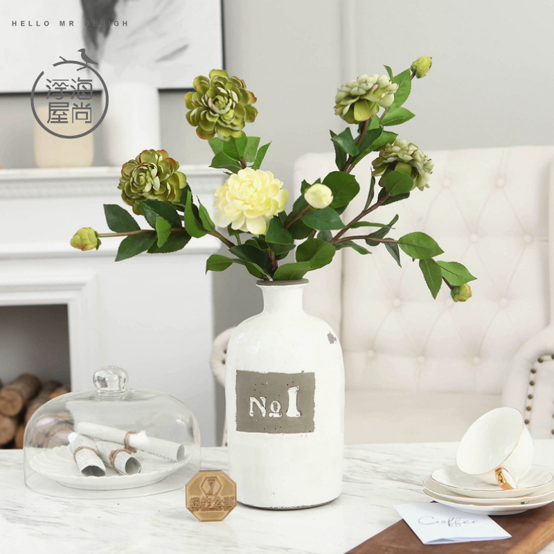 H european living room decorative artificial flowers artificial flowers silk flower floral decorations camellia floral crafts jewelry at home