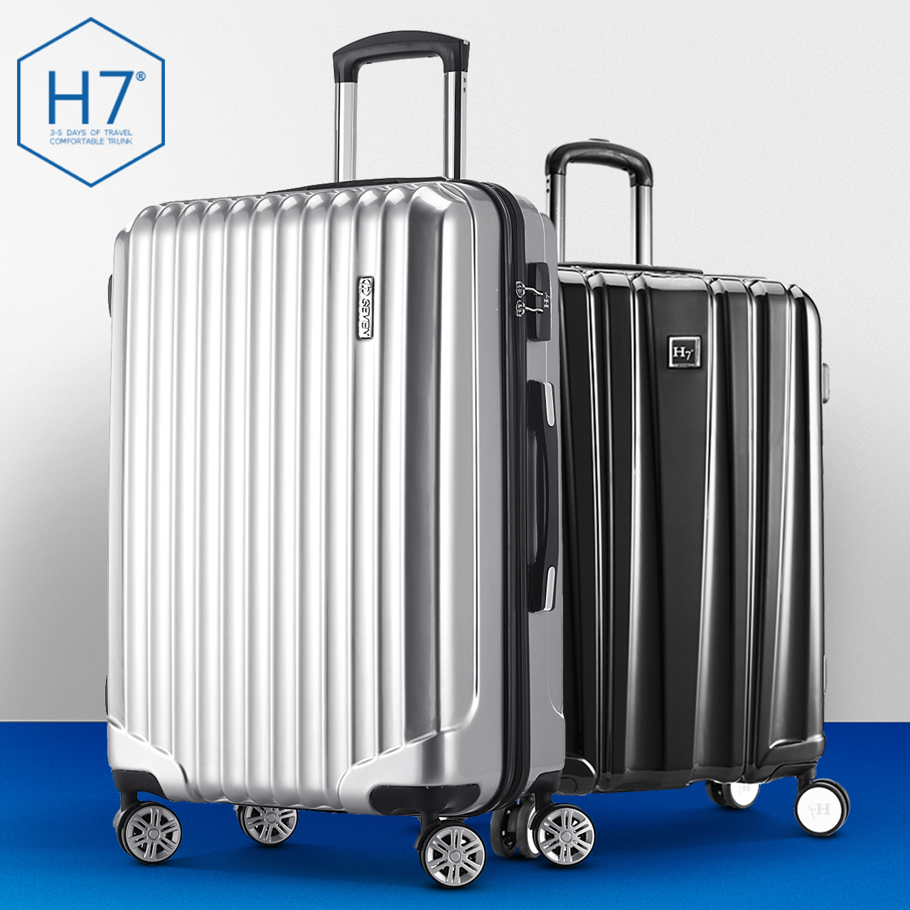 H7 fashion trolley suitcase caster 24 female 24-inch suitcase suitcase 20-inch board chassis suitcase checked box 20 password Lock