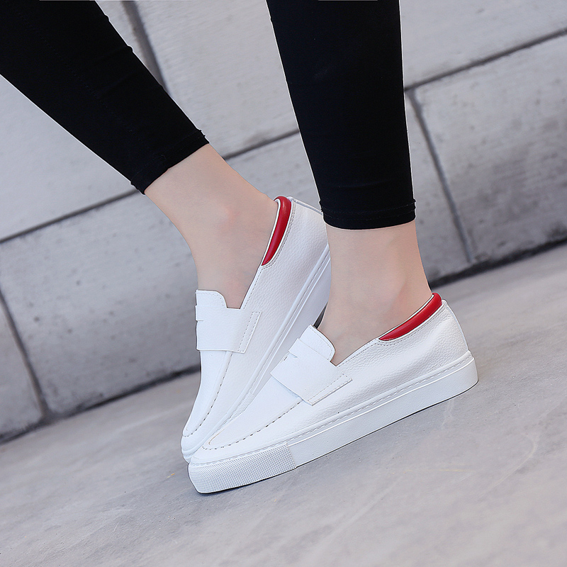 Ha sin autumn new simple small white shoes lazy shoes flat shoes fashion women's singles shoes casual shoes to help low set foot
