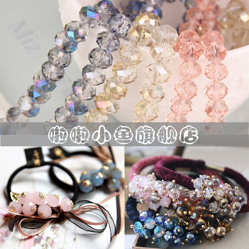 Hairpin diy accessories beaded crystal beads glass beads handmade bead jewelry headdress hair accessories card material