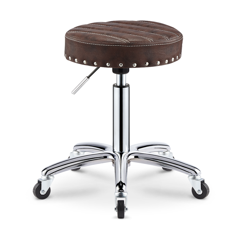 Haixiu retro rivet edge drum salon stool great work great work chair/master chair/master stool lift stereotypes cotton Stool
