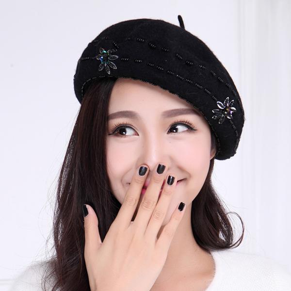 Corgi ass beret female cute korean japanese butt wool beret