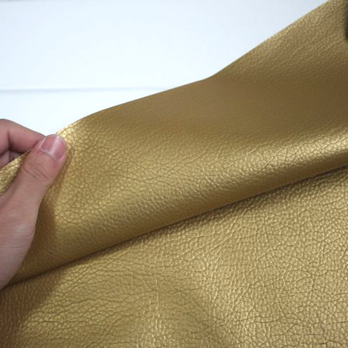 Half the price of rice milk golden roolls decoration large embossed faux leather pu leather fabric leather fabric