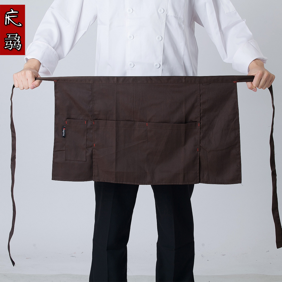 Half the restaurant kitchen chef waiter apron apron bust hotel restaurant meal red black and white men and women